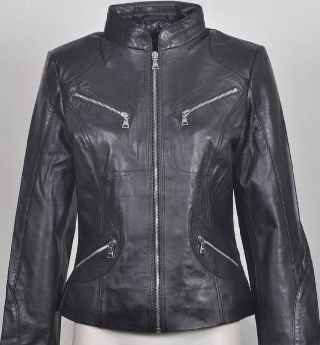 Gerry Weber Elaine Soft Leather Short Zip Jacket 748022