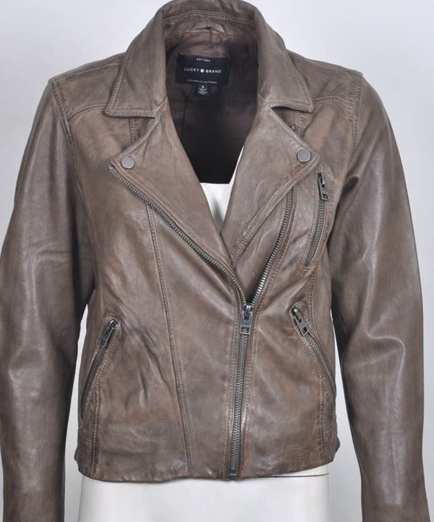 Women's Italian Leather Biker Jacket 7W31308