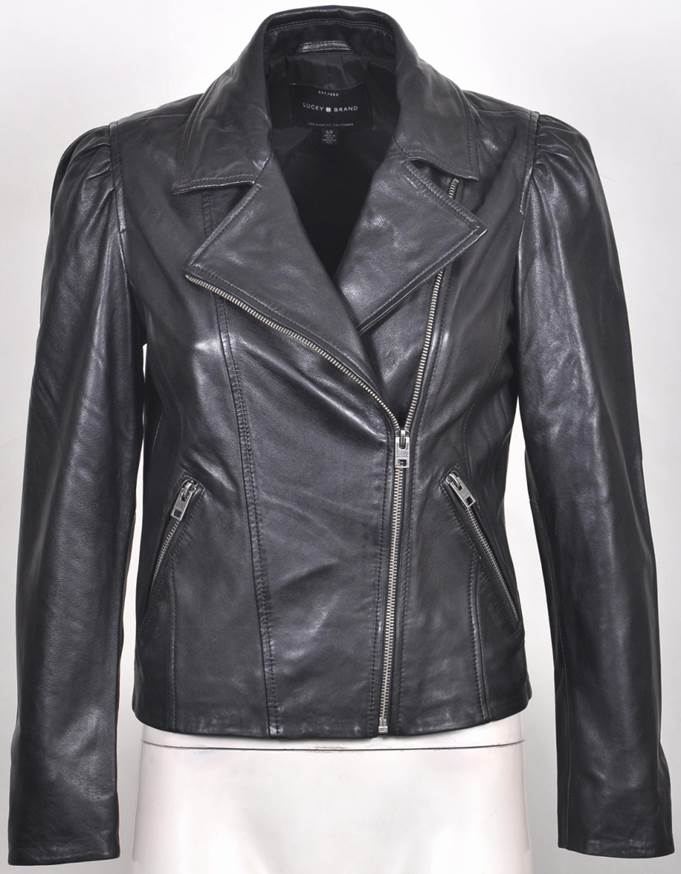 Women's  Leather Biker Jacket 7WD3289