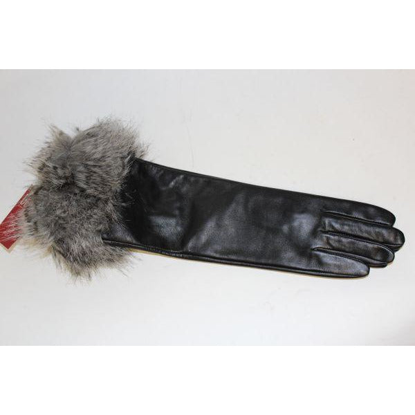 Dents Fur Trimmed Leather Gloves