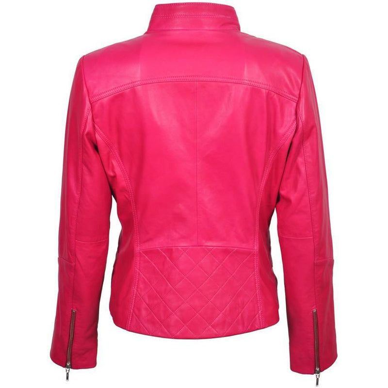 Elaine Women's Soft Lambskin Leather Jacket