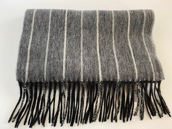 Dents Pure  Lambswool Pinstripe Woven Scarf DE20034