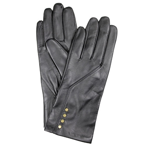Dents Women's Leather Stud Gloves DE770008