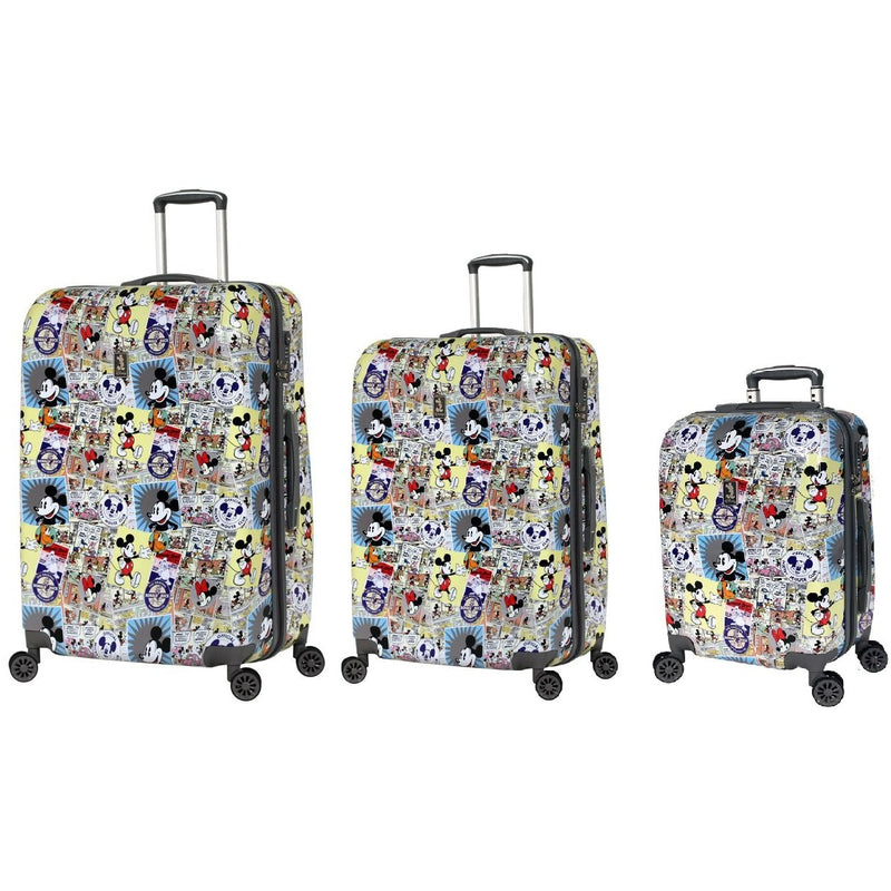 Disney Comic Mickey Hardside Suitcase Large/Medium/Small Set 3
