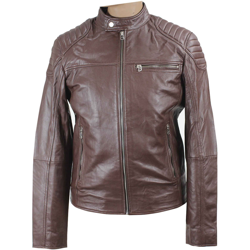 Duane Men's Zip Leather Jacket