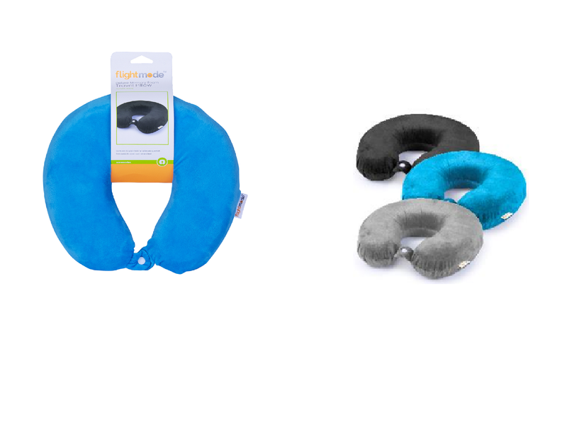 Flightmode Memory Foam Travel Pillow With Clip FM0049
