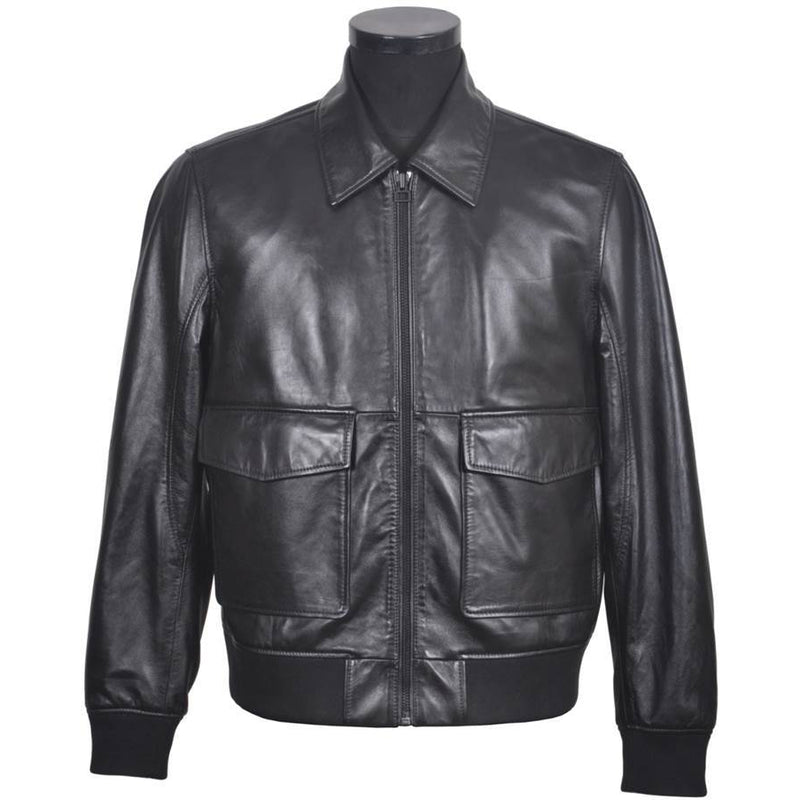 Classic Men's Soft Leather Jacket - Flight VR1