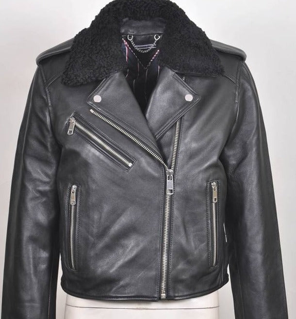 Ginger  Italian Leather Biker Jacket