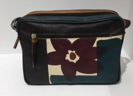 Astore Italian Hand Painted Leather Camera Bag AS15747 ACQUV