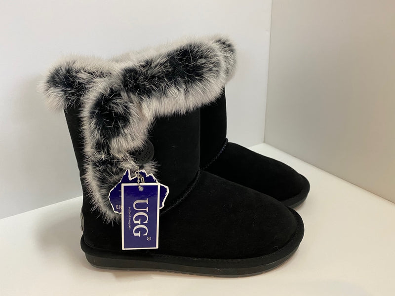 Fur Trim Classic Sheepskin Boots