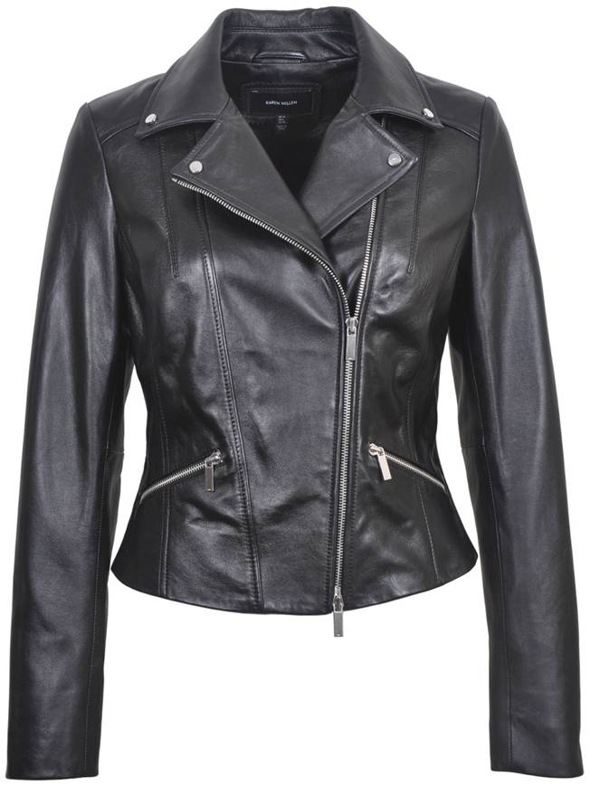 Women's Italian Leather Biker Jacket JW356