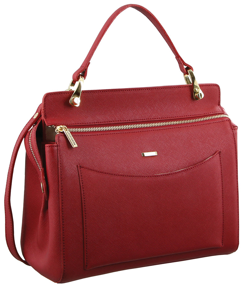 Morrissey Italian Structured Leather Handbag MO2512
