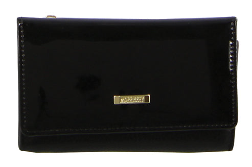 Morrissey  Patent Leather Flap Over Wallet MO2877
