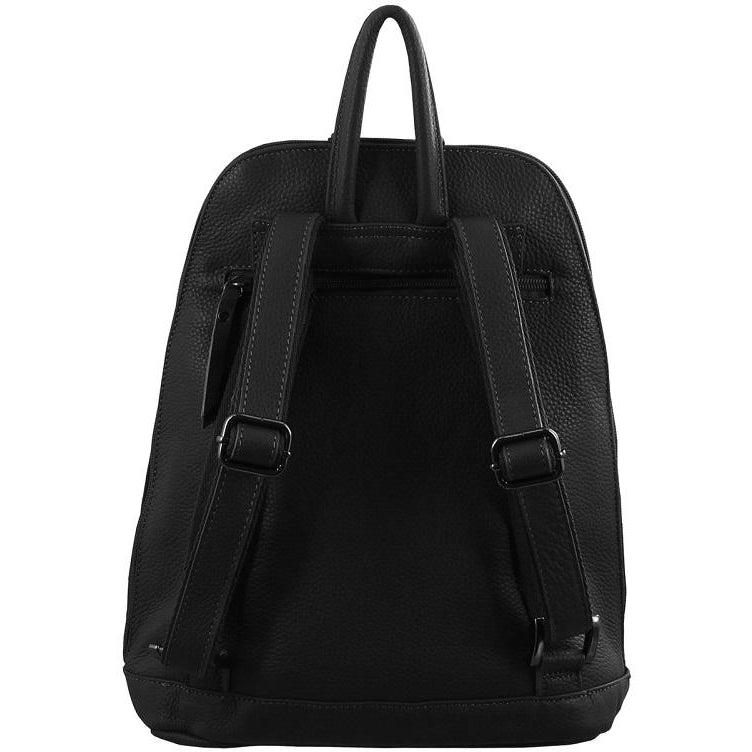 Milleni Ladies Nappa Leather Twin Zip Backpack NL2442
