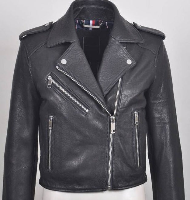 Noah Women's Italian  Leather Biker Jacket