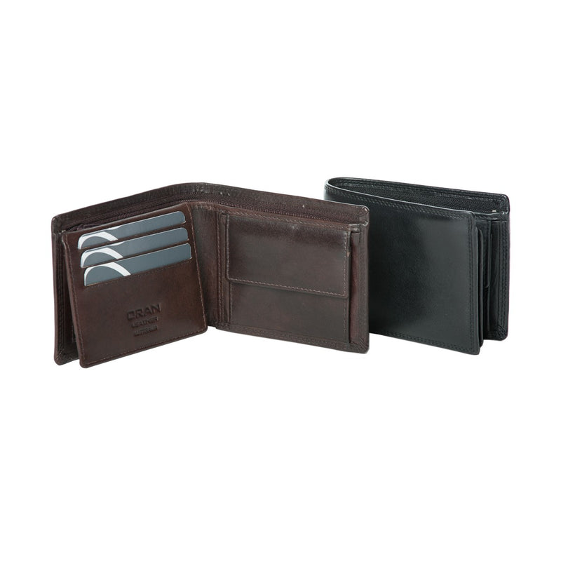 Oran Hamburg Men's Leather RFID Wallet BK118