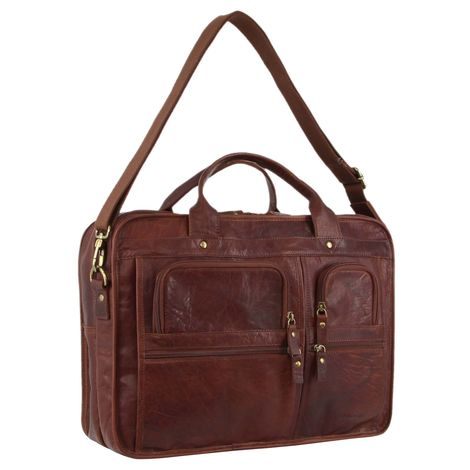 Pierre Cardin Leather Unisex Laptop Bag PC3135
