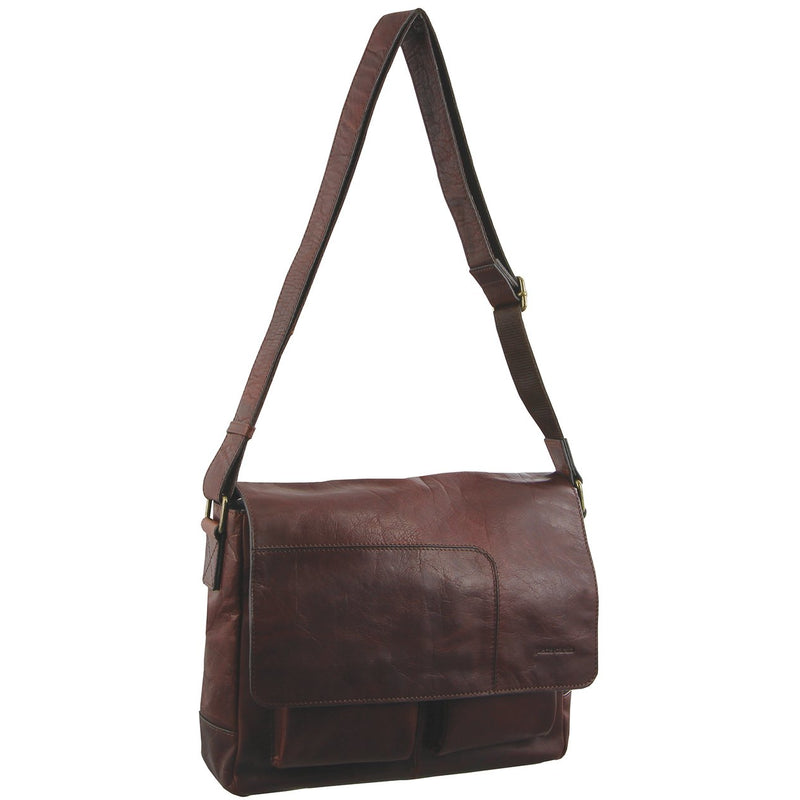 Pierre Cardin Rustic Leather Computer/Messenger Bag PC2805