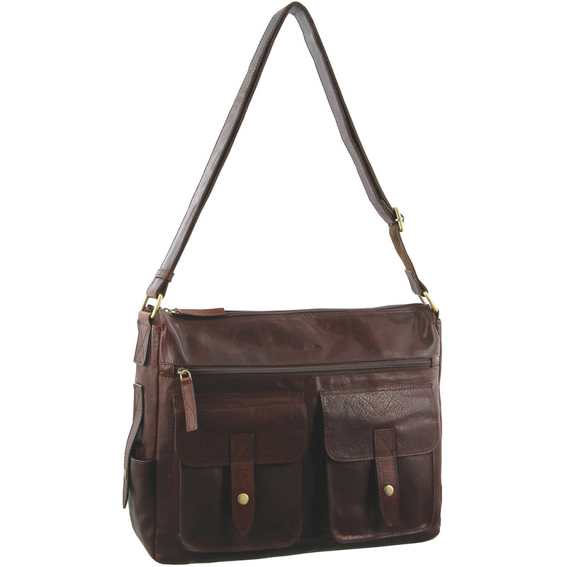 Pierre Cardin Rustic Leather Computer Bag/Satchel PC2806