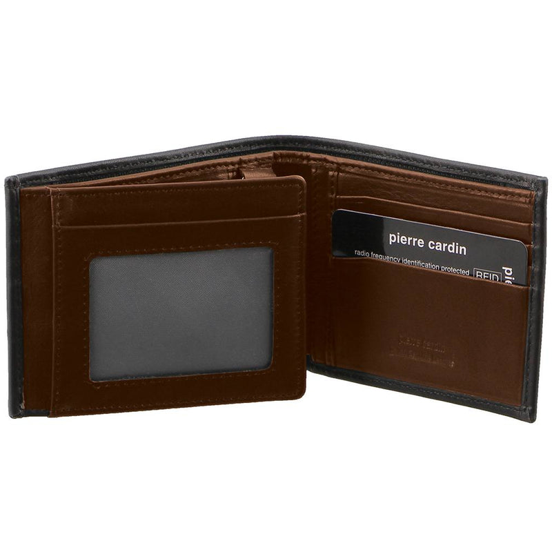 Pierre Cardin Italian Leather Mens Two Tone Bi Fold Wallet PC2632