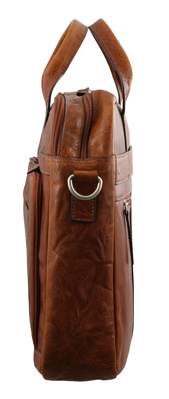 Pierre Cardin Rustic Leather Computer Bag PC2797