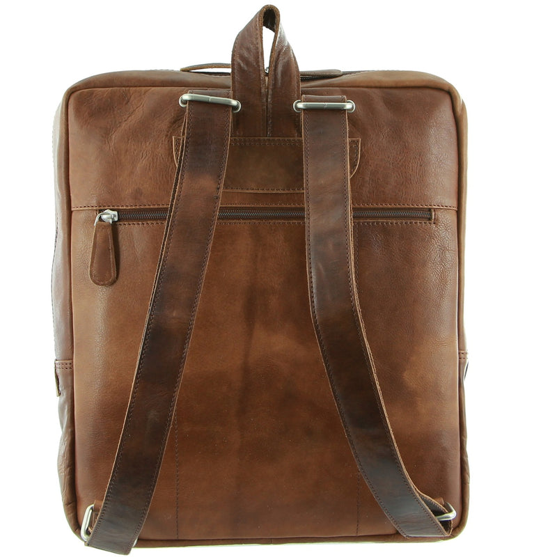 Pierre Cardin Unisex Vintage Leather Backpack PC2799