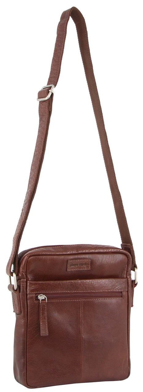 Pierre Cardin Rustic Leather Laptop Crossbody Bag  PC3039