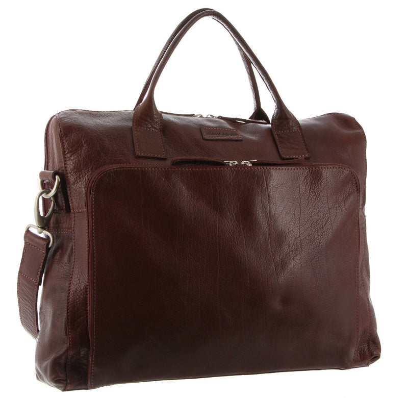 Pierre Cardin Leather Laptop Bag PC3043