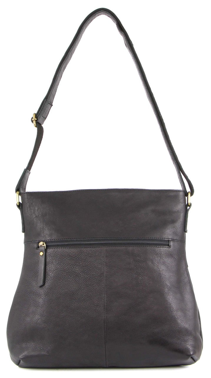 Pierre Cardin Italian Rustic Leather Hobo Handbag PC3113