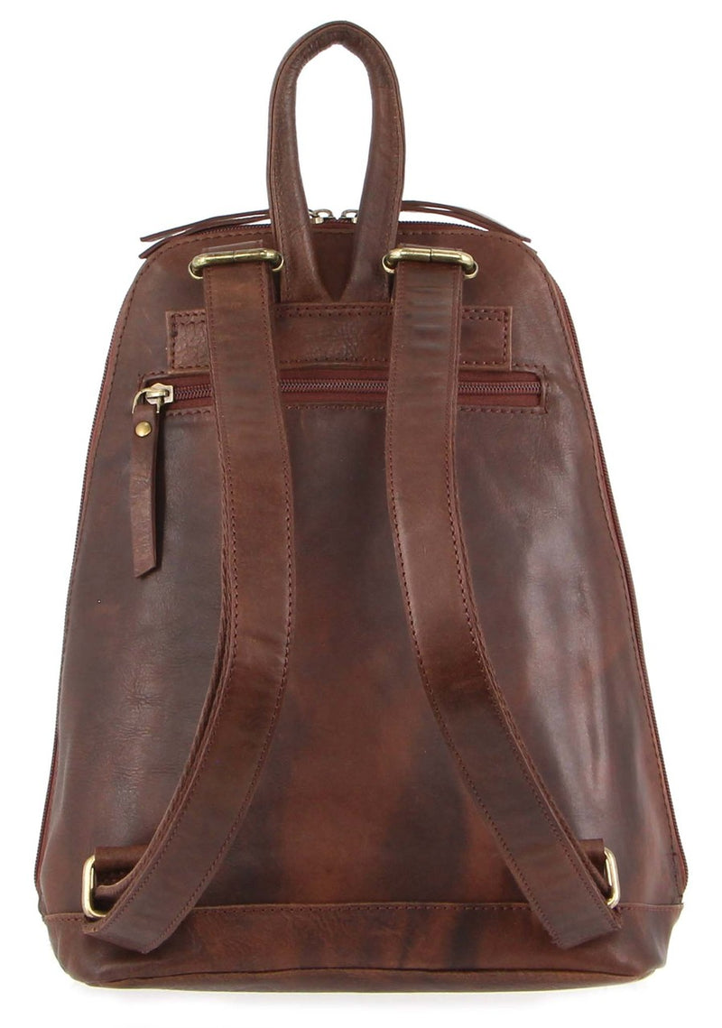 Pierre Cardin Italian Rustic Leather Backpack PC3115