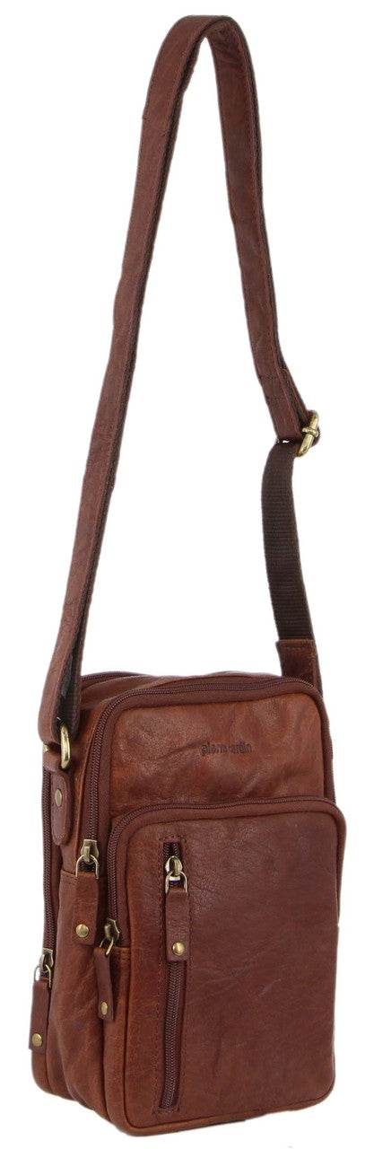 Pierre Cardin Rustic Leather Crossbody Bag PC3129