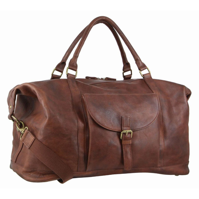 Pierre Cardin Rustic Leather Overnight Bag PC3134