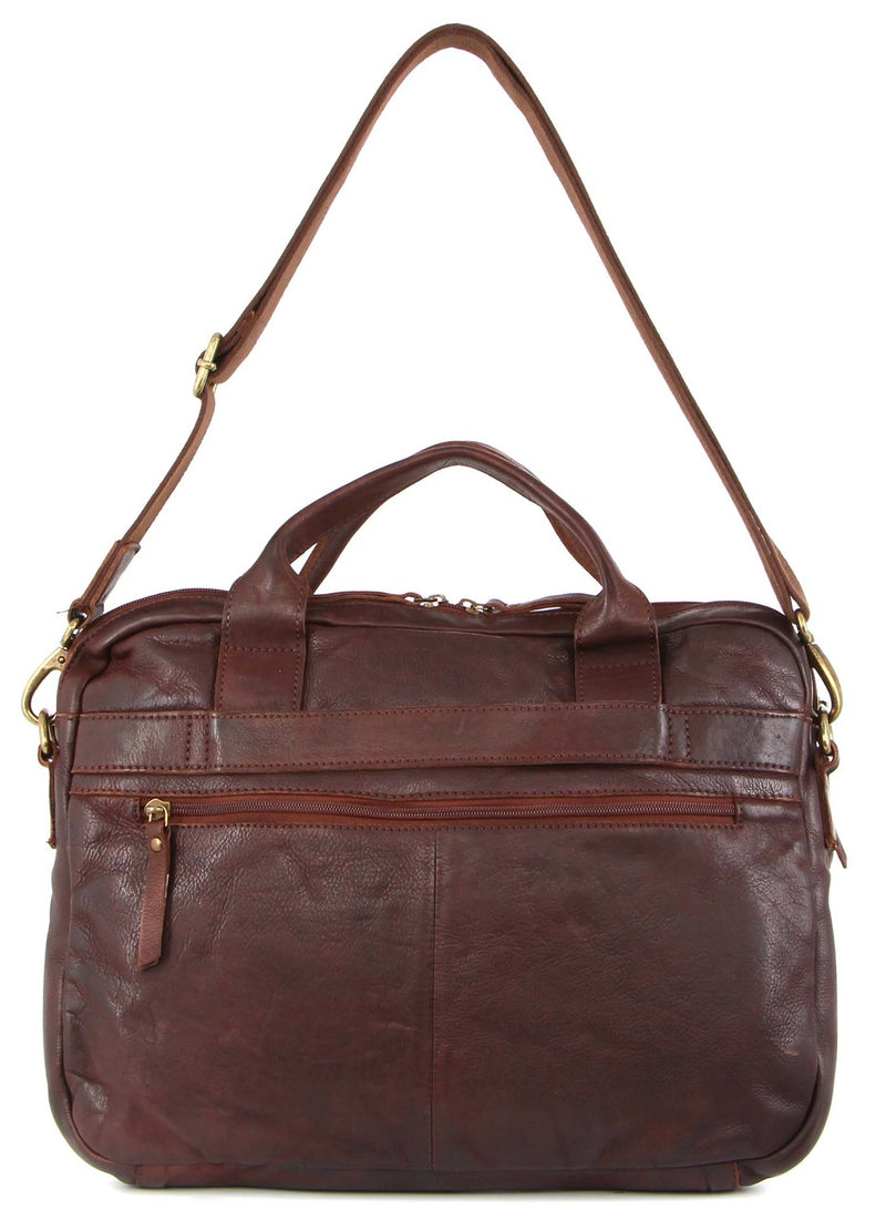 Pierre Cardin Rustic Leather Woven Satchel PC3141