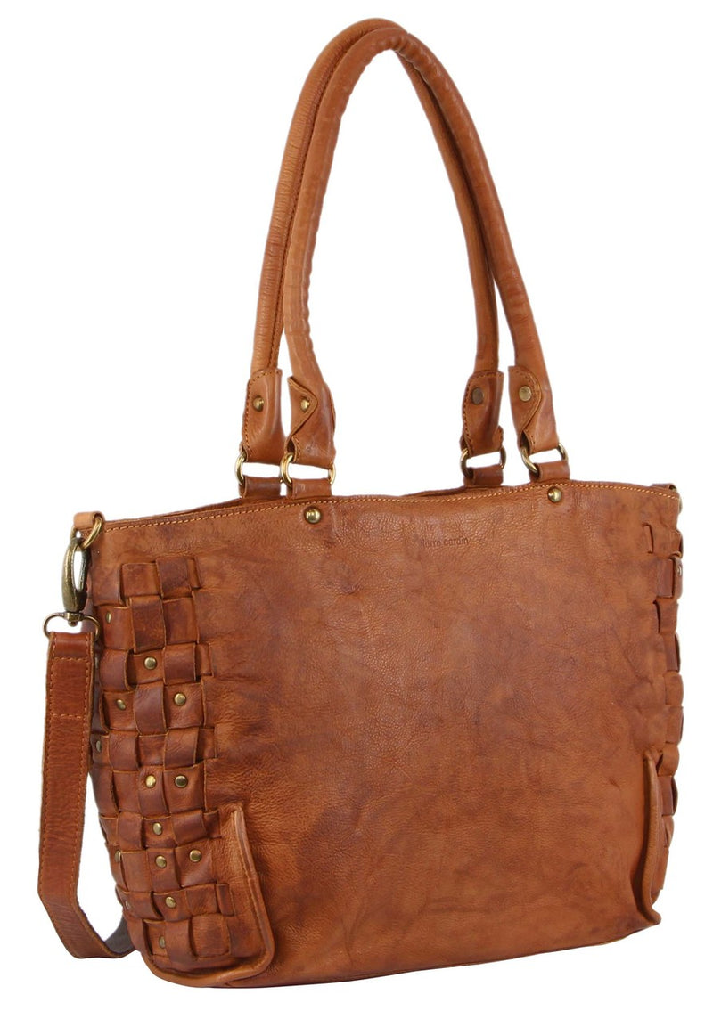 Pierre Cardin Vintage Woven Leather Tote PC3143
