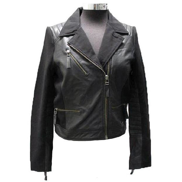 Riverlan Women's Leather Biker Jacket