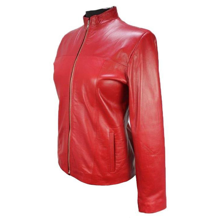 Siricco Women's Classic Zip Leather Jacket  SI037L   Made in Australia