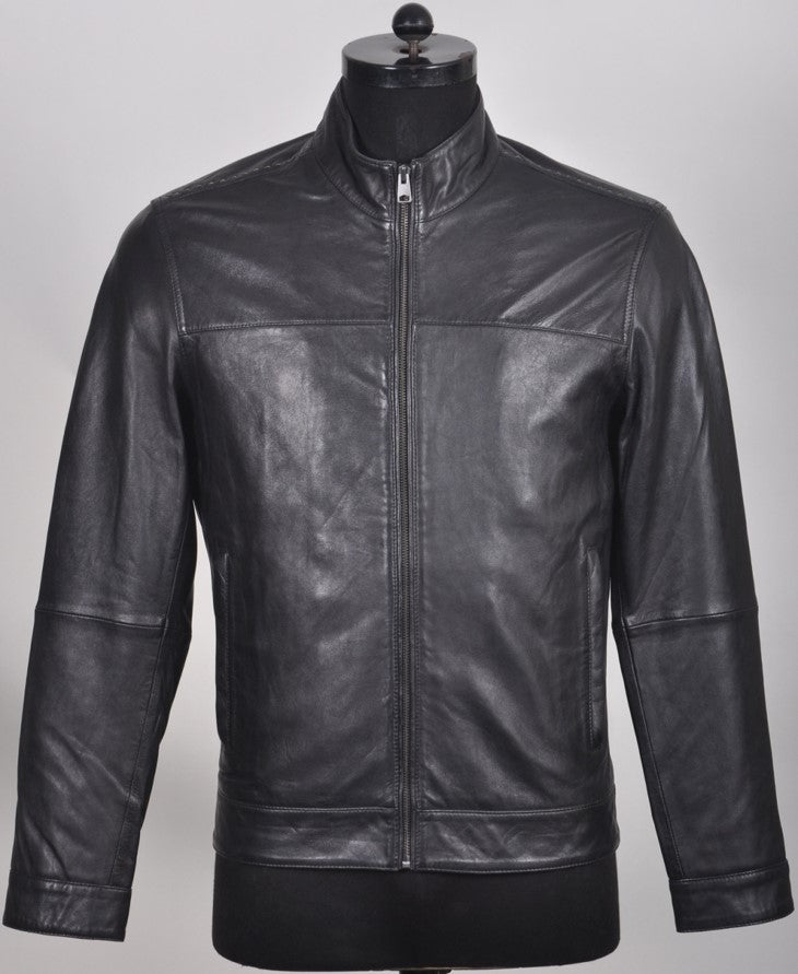 Wesley Men's Zip Leather Jacket 1704