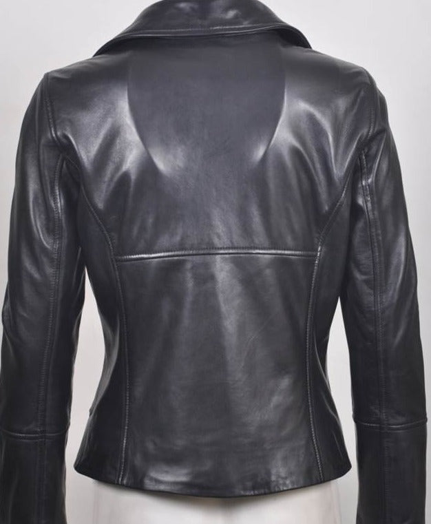 Sosanda Italian Leather Biker Jacket  SA170R01