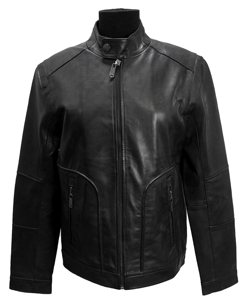 Sam Men's Leather Zip Jacket
