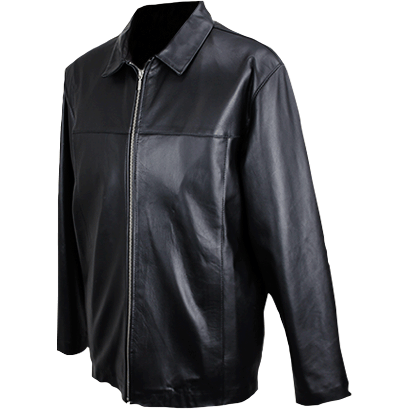 Siricco Men's Italian Leather Zip Jacket   SI104 - Made in Australia