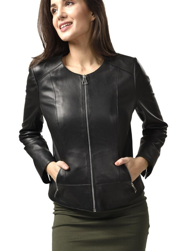 Camilla Women's Leather Zip Jacket