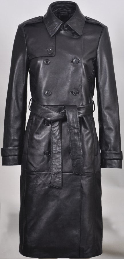 Chiara Women's Italian Leather Trench Coat