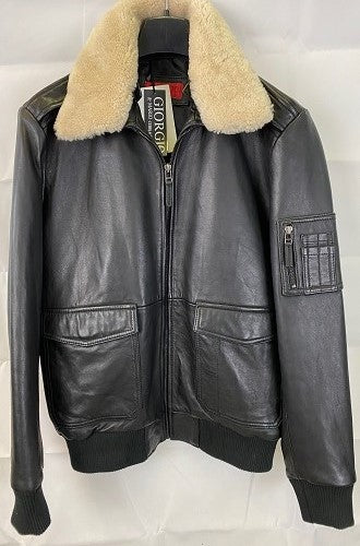 Coach Men's Leather Aviator Jacket