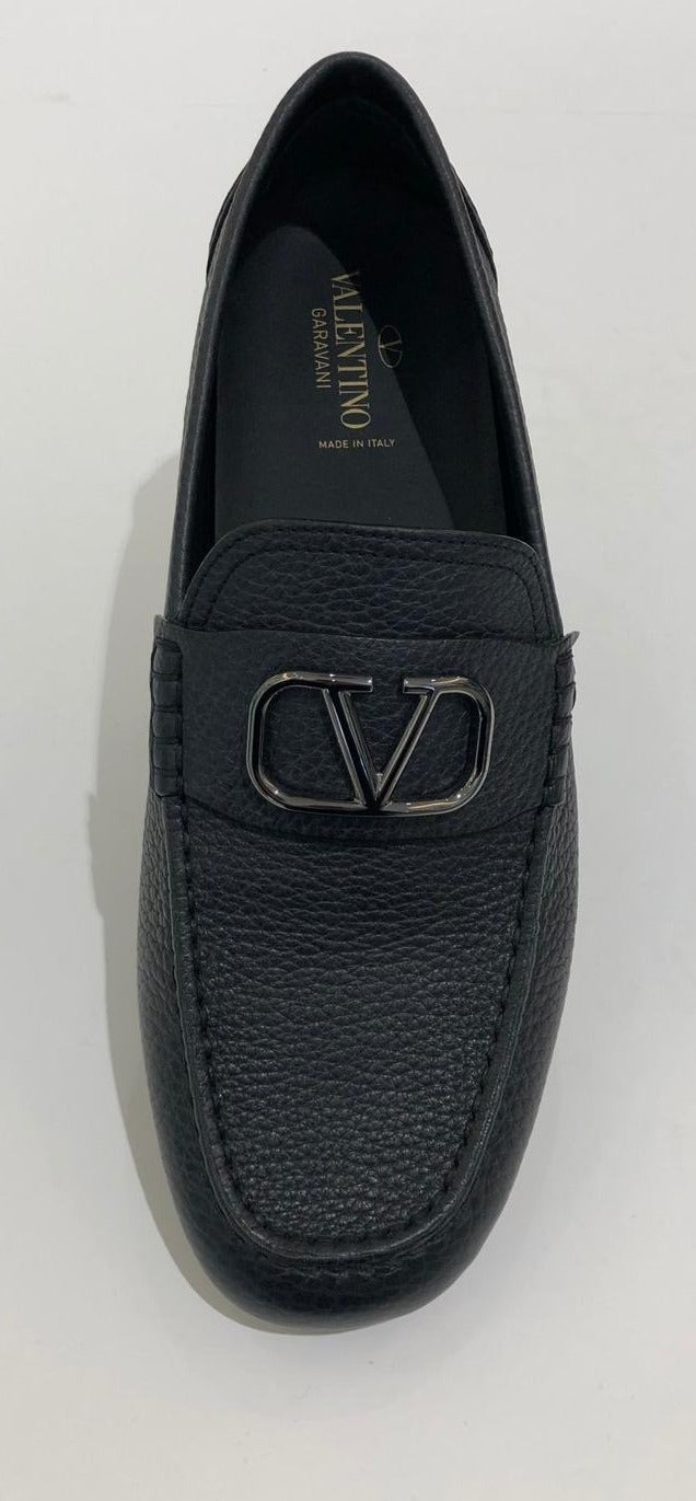 Valentino  Leather Car Shoe Loafer  VACC32