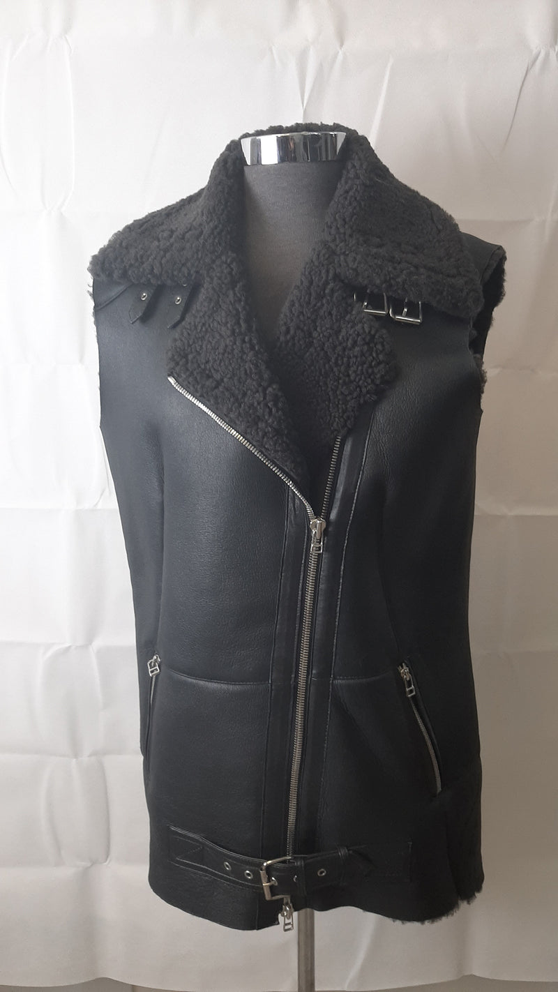 Double-face Women's Fur Long Vest M0665