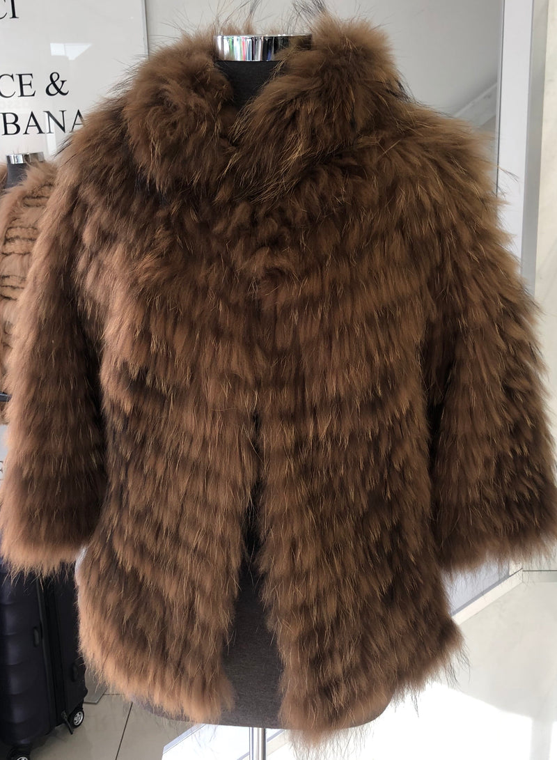 Shine and Dance Shine and Dance Racoon Fur Jacket BCA89942