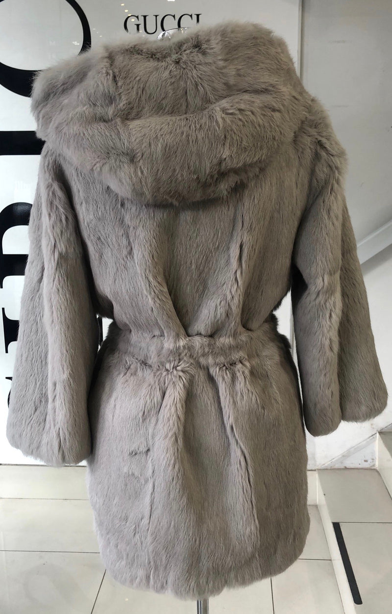 Shine and Dance Shine and Dance Rabbit  Fur Coat BCA91B217