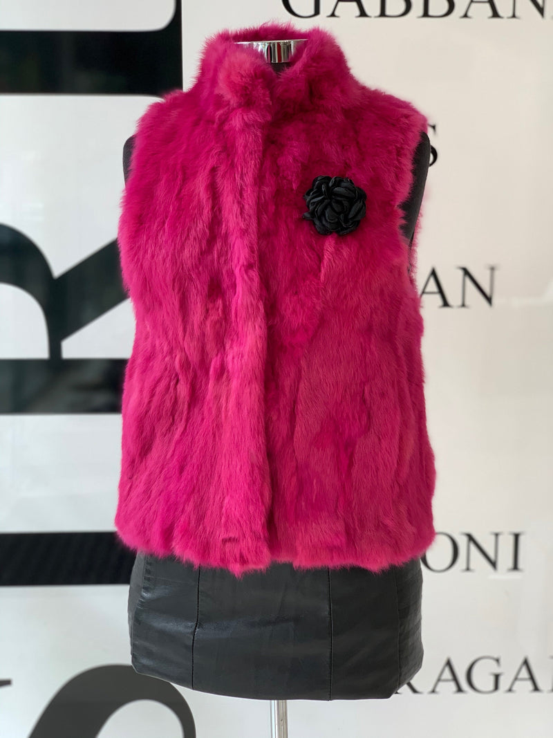 Betta Corradi Rabbit Fur Vest BCA91B003