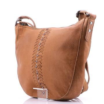 Modapelle Vintage Leather Woven Bucket Bag 5959