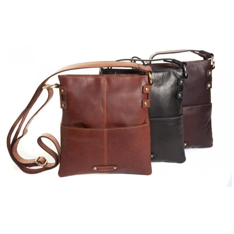 Oran Amy Vintage Leather  Crossbody  Bag OB7157